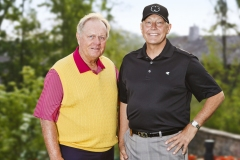 Dan pictured with all-time great golfer Jack Nicklaus at Memorial Golf Tournament Pro-Am, Columbus.