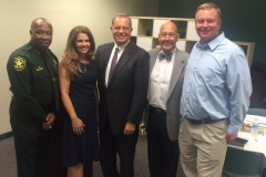 Board Chair Dan Overbey with Ana Calderon, Executive Director of Children's Diagnostic, and other CDTC Board Members.
