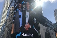 Joined by advisor Ernie Carrera at the NASDAQ Closing Bell. Times Square, New York City.