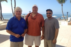 David Wedaman, PWA Advisory Board member with Hugh Warlick and Zac Overbey.