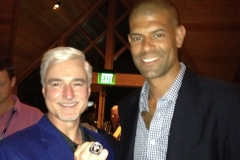 Dave Giertz, PWA Advisory Board member with Sean Battier.